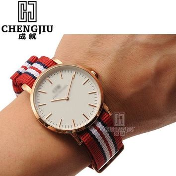 ac spbest Nylon Watch Strap For Daniel Wellington Women Watches Strap Canvas Watchbands Colorful Watch Band For Men For DW Watch Montre