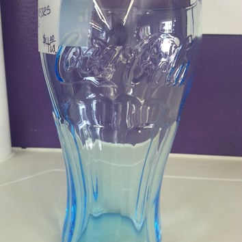 Turquoise Blue Ice Coca-Cola Glass - SOLD!!!