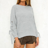 Young Blood Knit Grey