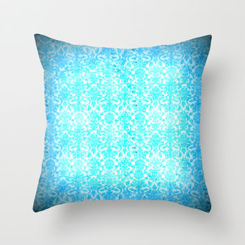 Turquoise Wallpaper  Throw Pillow by 2sweet4words