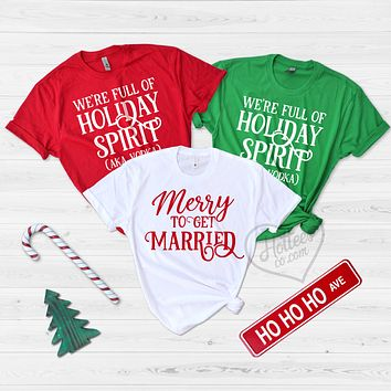 Funny Christmas Bachelorette Party Shirts