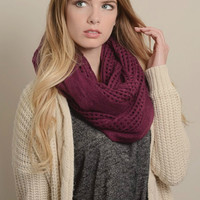 Open Grid Infinity Scarf - Multiple Color options