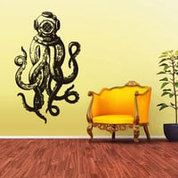 Wall Vinyl Sticker Decals Decor Jellyfish Octopus Deep Sea Ocean Fish Scuba Tentacles (z1589)