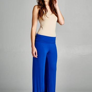 Lace Bottom Palazzo Pants