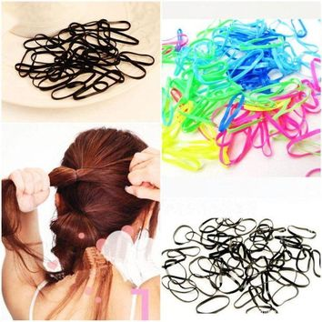 LMFGC3 300pcs/pack Rubber Rope Ponytail Holder Elastic Hair Bands Ties Braids Plaits hair clip headband Hair Band Accessories