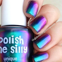 NEW-(Paradise)Mega Multichrome  Multi-Color Shifting Polish:  Custom-Blended Glitter Nail Polish / Indie Lacquer / Polish Me Silly
