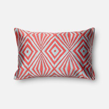 Loloi Coral / Teal Decorative Throw Pillow (P0011)