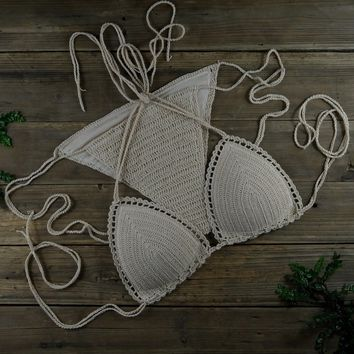 Beach Handmade Crocheted Bikini Set, Lining Cup Crochet Swimwear .Honeymoon Hippie, Swimming Pools, Spas Yacht Surf Bikini