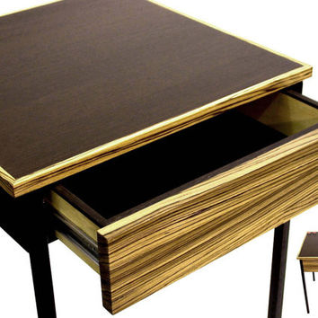 Nightstand Table Modern Home Decor End Table Chocolate Side Table Bedroom with Drawer Wood Small Table Modern Side Table
