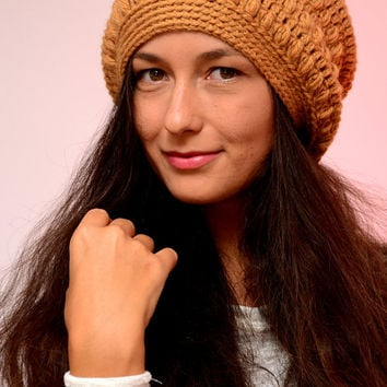 Beanie hat, Mustard hat,  crochet beanie hat, merino wool hat, womens beanie, crochet hat, excluisve beanie, SexyCrochet design, winter 2016