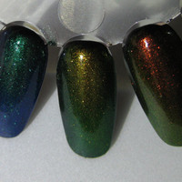 Phoenix Dragon Unicorn Duochrome Color Shifting Top Coat Trio Custom Nail Polish 5mL each