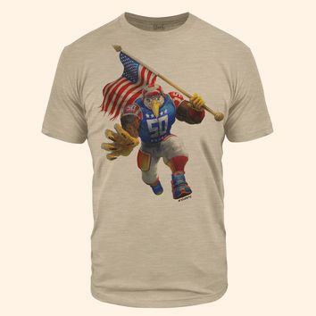 USA Eagle Sand Tri-Blend T-Shirt