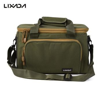 37*25*25cm Men Women Fishing Bag Canvas Multifunctional Outdoor Waist Shoulder Bags Reel Lure Carrier Storage Bag Fishing Tackle