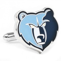 NBA Mens Blue Plated Memphis Grizzlies Cufflinks