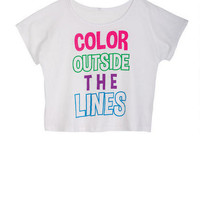 Color Outside The Lines Tee - White