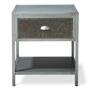 Brooklyn Metal Nightstand - Grey - The Industrial Shop™
