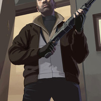 Grand Theft Auto IV Niko Bellic video game poster 18x24