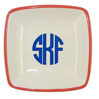 Monogrammed Small Ceramic Jewelry Tray