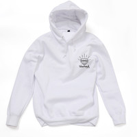 Diamond Supply Co Men's White Hoodie Cool Hooded Unique Design Long-Sleeved Hoody