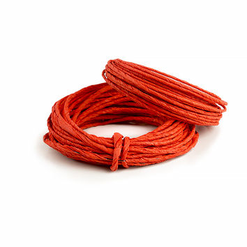 Paper Covered Wire, 8 Yds, 2 pack (Red)