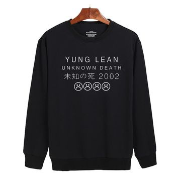 YUNG LEAN Rock Band Mens Hoodies and Sweatshirts Street wear Hip Hop Pullovers Young People Funny Music fans Idol Clothes XXS