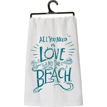 All You Need Is Love and the Beach Kitchen Towel
