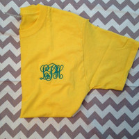 EASTER SPECIAL -- Any Color Monogrammed Tshirt, Short-Sleeved