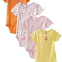 Gerber Baby-Girls Infant 4 Pack Variety Cupcake Onesuit
