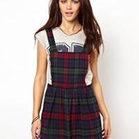 Glamorous Pinafore Dress In Tartan at asos.com