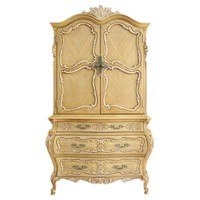 French-Style Carved 6-Drawer Armoire