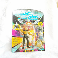 Vintage Geordi LaForge Star Trek NExt Generation Toy Action Figure with Accessories, Star Trek Chief Engineer, Tricorder, Numbered, NIB,