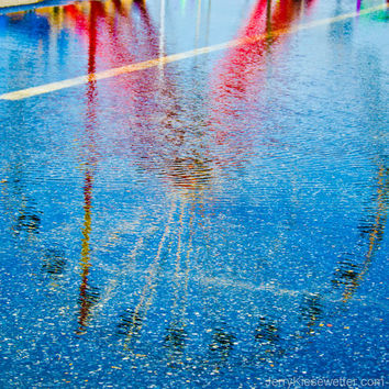 Reflected Ferris Wheel, Carnival Photograph, Ocean City, Maryland, Abstract, Fine Art, Festive Wall Art, Home Decor, Colorful Art
