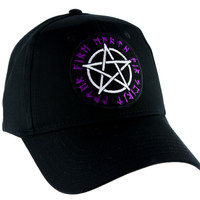 Rune Scrip Wicca Pentagram Hat Baseball Cap Alternative Pagan Clothing Witchcraft