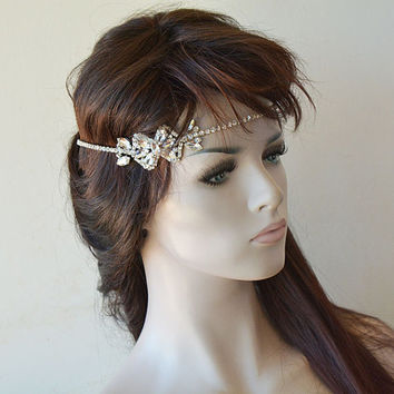 Bridal Headpiece, Crystal Bridal Headband, Wedding Headpiece, Bridal Hair Jewelry