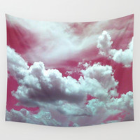 Cotton Candy Sky Wall Tapestry by Bunhugger Design