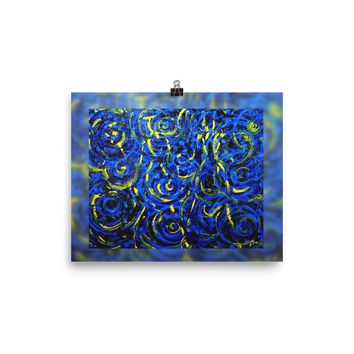 Portals on Blue Photo paper poster