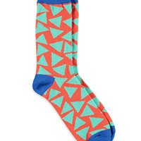 Triangle Pattern Crew Socks