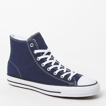 Converse CTAS Pro High Top Navy and White Shoes at PacSun.com