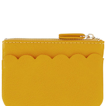 Accessorize | Scalloped Pocket Coin Purse | Yellow | One Size | 5903500200