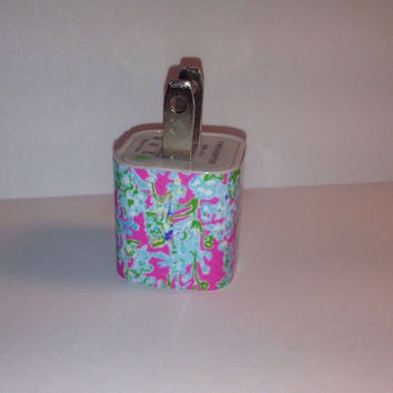 Lilly Pulitzer Inspired Southern Charm USB Iphone Wall Charger