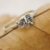 Lovely Elephant Sterling Silver Rin.. on Luulla