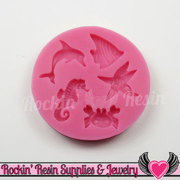 Ocean Life SILICONE MOLD Food Grade Flexible