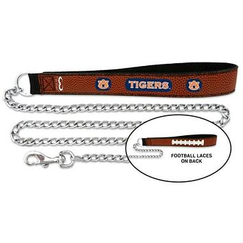 Auburn Tigers Football Leather and Chain Leash