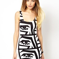 KESH X American Apparel Printed Bodycon Mini Dress