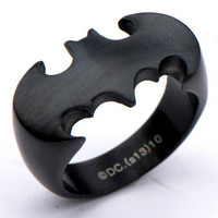 Batman Logo Die-Cut Satin Finish Ring |
