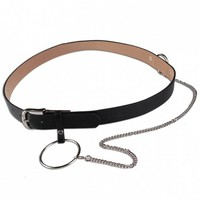 Large Hoop Chain Pin Buckle Wide Belt