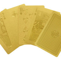 Gold Playing Cards at Gent Supply Co.