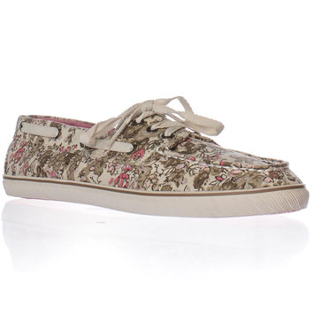 Sperry Top-Sider Cruiser Boat Shoes - Tan Ditsy Floral
