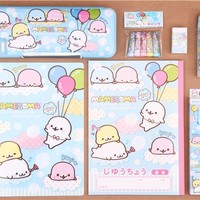 huge Mamegoma seals balloon stationery set - Memo Pads - Stationery