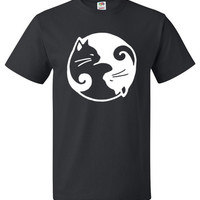 Cats Yin Yang Shirt Cool Cat Tee